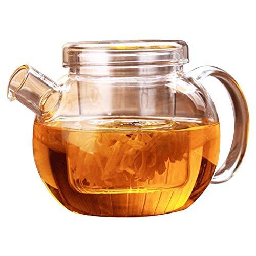 Hoge temperatuur weerstand NHL dik glas bloempot hoge temperatuur glas ketel theepot grote glazen pot met filter 600ml