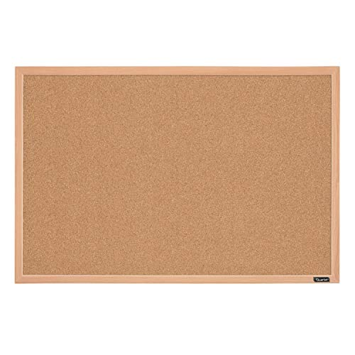 "Quartet Cork Board Bulletin Board, 23"" x 35"" Framed Corkboard, Oak Frame, Decorative Hanging Pin Board, Perfect for Office & Home Decor, Home School Message Board or Vision Board (35-380352)"