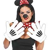 Guirca Fiestas GUI16579 Guantes de Mickey Mouse Personajes Dibujos Animados,...
