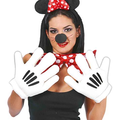 Guirca Fiestas GUI16579 - Guantes de manos de Mickey Mouse con personajes de dibujos animados, talla única