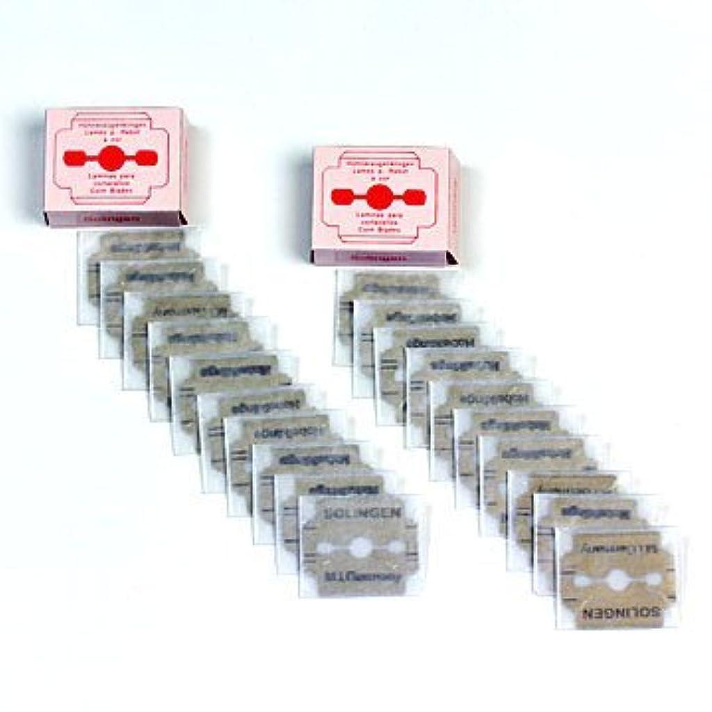 パイプライン気配りのあるクッションドイツ?ゾーリンゲン(Solingen) かかと削り器用替刃10枚入りx2セット(合計20枚) #slg008002fba