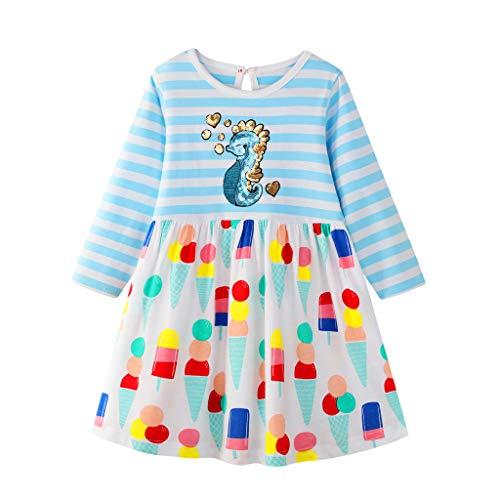Mamum Enfant en Bas âge Enfants bébé Filles Fruit imprimé rayé Dessin animé Animal Princesse Robe Tenue
