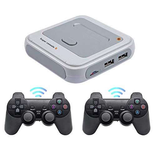 Mini lettore di videogiochi, console da gioco X, 4 K, HD, retrò, classico, con 2 joystick, giochi integrati 30000 40000 50000 +, portatile, 2,4 G, per PS1 N64 DC-128G