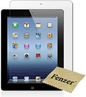 Fenzer Clear Screen Protector for Apple iPad 3 3rd Generation Tablet 9.7 inch Transparent LCD Touch Screen Film Guard Cover Shield with Lint Cloth