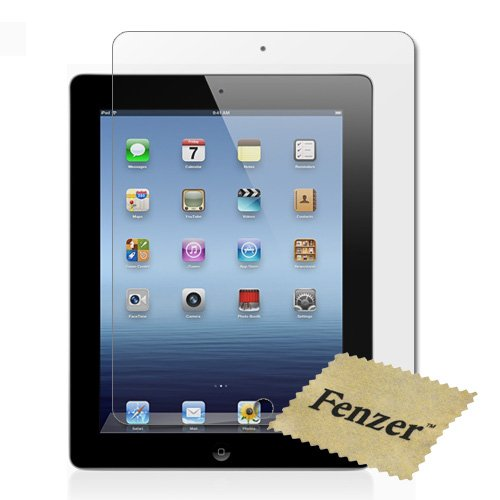 Buy 100 Pack Fenzer Anti-Scratch Clear Screen Protector for Apple iPad 3 3rd Generation 9.7″ w/ Cloth