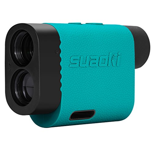 SUAOKI PF3 Golf Rangefinder Scope- Laser Range Finder with Slope, Golf Trajectory Mode,Flag-Lock and Distance/Height/Speed/Angle Measurement - Laser Binoculars (Turquoise)