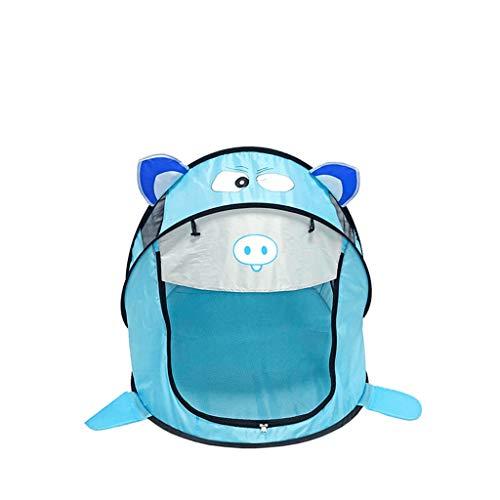 Tents Tienda de campaña iluminada azul para niños, pelota de juegos móvil al aire libre, juguete ligero, 96 x 86 x 182 cm (color: azul, tamaño: 96 x 86 x 182 cm)