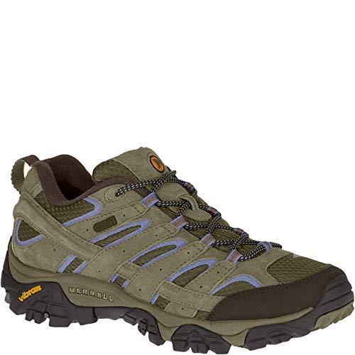 Merrell Women's Moab 2 Waterproof Hiking Shoe, Dusty Olive, 7.5 M US