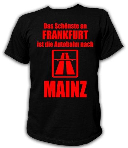 Artdiktat T-Shirt Anti Frankfurt T-Shirt Unisex, Größe L, schwarz