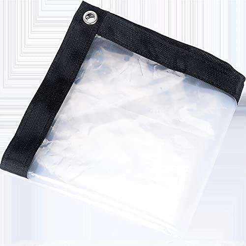 Sureh 2 x 2m wasserdichte transparente Plane mit Ösen, Vordächer und Planen, strapazierfähige, transparente, wetterfeste Plane, faltbar, Pflanzendach, Regenschutz, Seil...