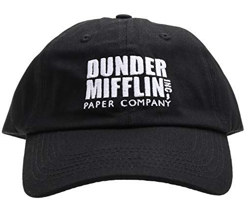 Molosof Dunder Mifflin Dad Hat Paper Company INC The Office TV Show Baseball Cap (Black)