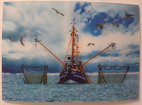 3 D Ansichtskarte Fischkutter, Postkarte Wackelkarte Hologrammkarte Schiff