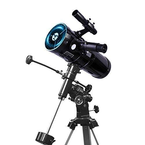 LG Snow 114mm Mit Großem Durchmesser Teleskop for Kinder Und Anfänger - Profi Stargazing - Deep Space Kindersternenteleskop (Color : Black)