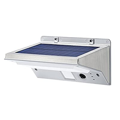 Stainless Steel Solar Lights, OPERNEE Bright 21 LED Outdoor Solar Powerd, Waterproof Security Motion Sensor Light for Patio,Yard,Driveway,Garden, Outside Wall with 3 Modes Motion Activated Auto On/Off