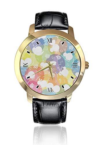 Abeja Caracol Insecto Personalizado Moda Clásico Analógico Reloj de Pulsera de Cuarzo Reloj de Correa de Cuero para