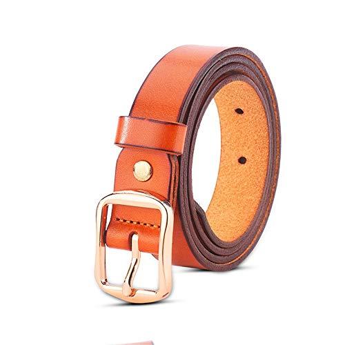YEZIB Cablaggio da Uomo, Cintura da Donna Cintura in Vera Pelle con Fibbia Diurna in Lega da Donna (Color : Brown, Size : 105cm)