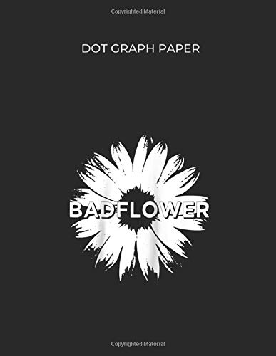 Dot Graph Paper: Badflower Flower Official Merchandise Raglan Baseball Dot Graph Paper Notebook White Paper Blank Journal with Black Cover Size 8.5in ... 109 pages for Kids or Men and Women Softball