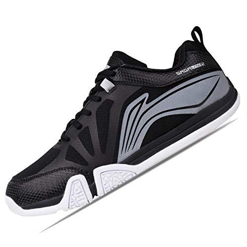 Li-Ning Premium Non Marking Badminton Shoes, Black/White