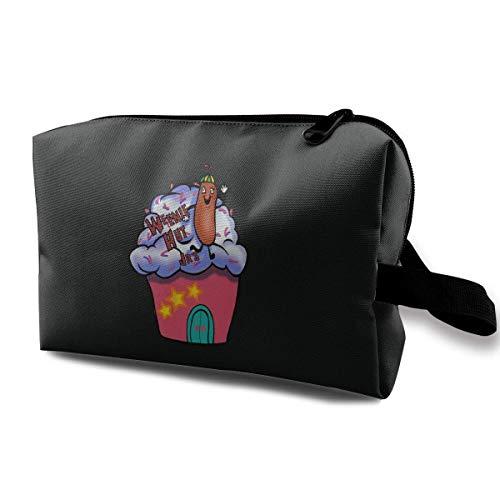 Hdadwy Weenie Hut Jr 's lustige kosmetische Tasche Lagerung Reise Make-up Tasche