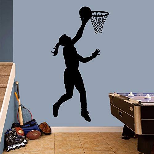 Tianpengyuanshuai Basketball Mädchen Basketballspieler Sportzimmer Kinderzimmer 50X50cm