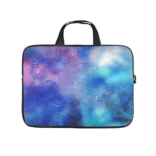 blue stain pattern stratches Laptop bag Pattern Laptop Case Bag Colorful Water Resistant Laptop Briefcase with Portable Handle for Women Men white 13 zoll