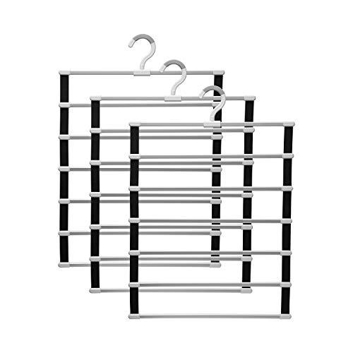 percha 6/8 capas Pantalones Pantalones Holdernos Pantalones Pantalones Perspago Almacenamiento Rack Ropa Ropa Armario Armario Organizador Armario Ropa Ropa Organizar la ropa ( Color : 3 PCS 6 layers )