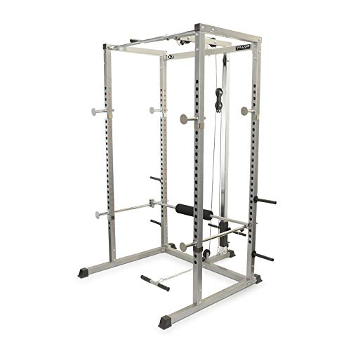 1. Valor Fitness BD-7 Power Rack with Lat Pull Attachment
