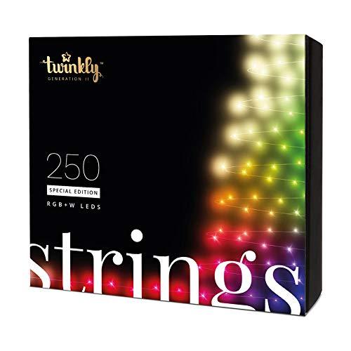 Festive Lights - Twinkly Génération II Guirlande Lumineuse Connectée (250 LED) pour Sapin de Noël - Contrôlable Via Smartphone, Décoration Lumineuse Intérieur/Extérieur (20m Édition Spéciale)