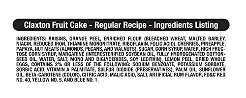 Claxton Fruit Cake - 3-1 Lb. Regular Recipe