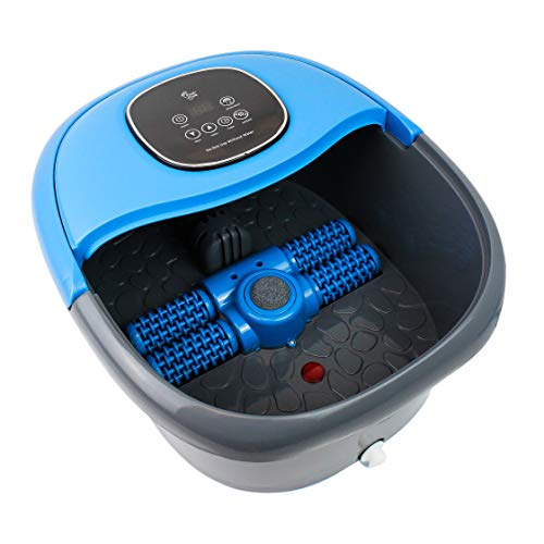 FOOT CURE Foot Spa Massager Basin – Heated Electric Foot Bath Tub with Automatic Massage Rollers & Temperature Control – Luxury Spa Treatment That Rejuvenates Tired Feet & Relieves Pain & Pressure