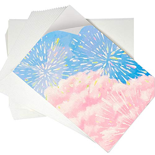 Watercolor Paper Bulk, 120 Sheet Wihte Painting Paper Pad for Artist, Art Paper, Drawing Paper for Kids, for Beginning Artists or Students, Size of 10x7 Inch