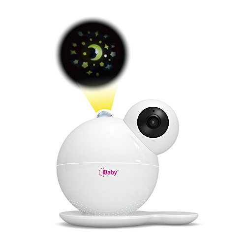 iBaby Smart WiFi Baby Monitor M7, 1080P Full HD Camera, Temperature and Humidity Sensors, Motion and Cry Alerts, Moonlight Projector, Remote Pan and Tilt with Smartphone App for Android and iOS