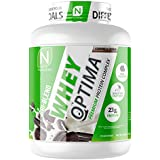 NutraKey Whey Optima Protein Powder with 23g of Protein - Low Carb, Gluten Free Protein, Non-GMO, Cookies & Cream, 5-Pound
