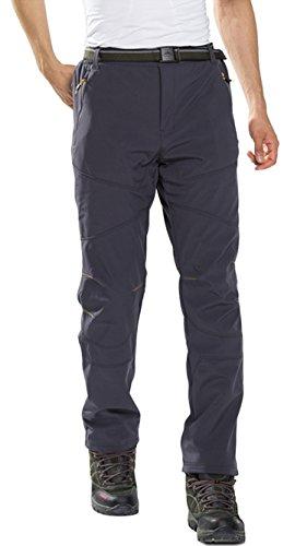 HAINES Pantalon Trekking Mujer Impermeable Pantalones de Montaña Invierno Pantalón Softshell de Senderismo