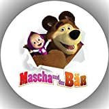 Fondant Tortenaufleger Tortenbild Geburtstag Mascha und der Bär T8