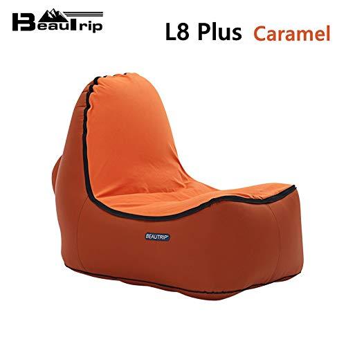 Bureze - Silla hinchable para interior y exterior, sofá, sala de estar, puf, tumbona, camping, senderismo, pesca, sillas de jardín