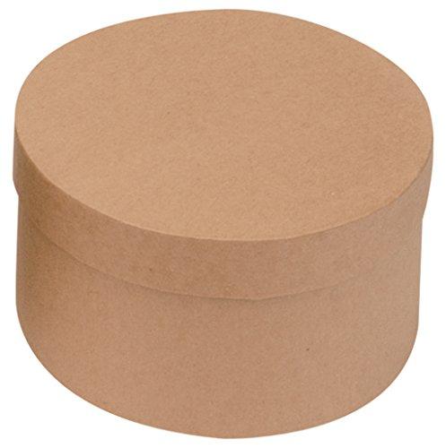 Glorex Pappdosen-Set, 12-teilig, Pappe, Natur, 15 x 15 x 9 cm