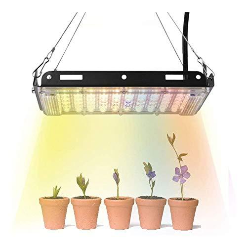 Luz de planta LED, luz de crecimiento LED de interior 800 W, lámpara de cultivo hidropónico de espectro completo para plantas y flores, sin ruido, a prueba de agua