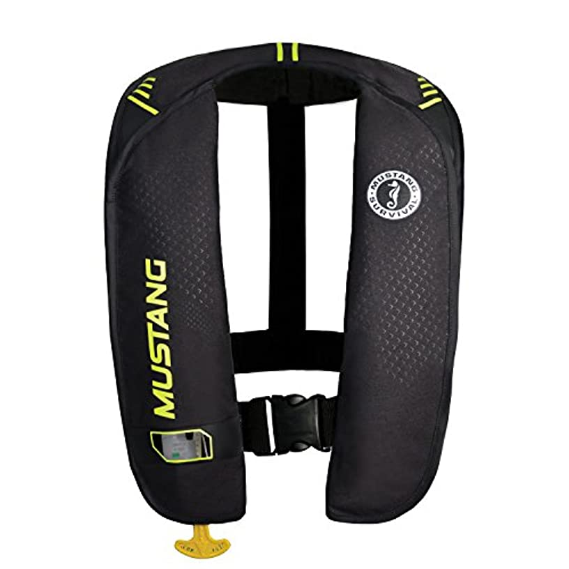 Mustang Survival Corp M.I.T. 100 Manual Activation PFD, Black/Fluorescent Yellow Green