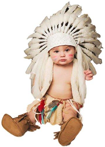 KARMABCN N25 - para 9 a 18 Meses Bebé/Niño: Rosa, Naranja y Turquesa Adorno Indio Estilo Indio para los más pequeños! (White Swan)