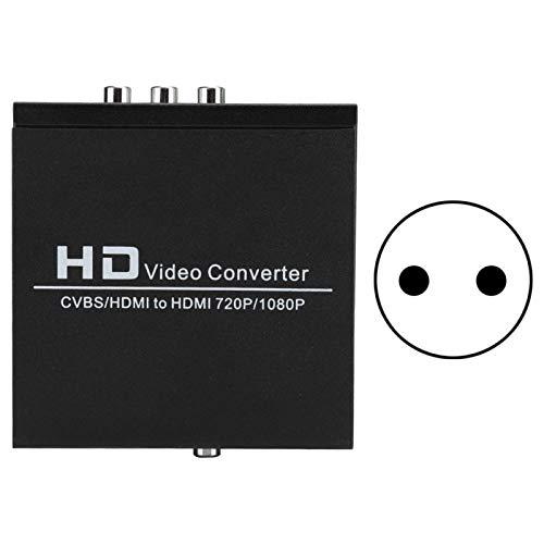 Adaptador Convertidor de Video AV + HDMI a HDMI 1080P HD, para TV/PC / PS3 / STB VHS/VCR/Blue-Ray Reproductores de DVD Consola de Juegos(Enchufe de la UE)