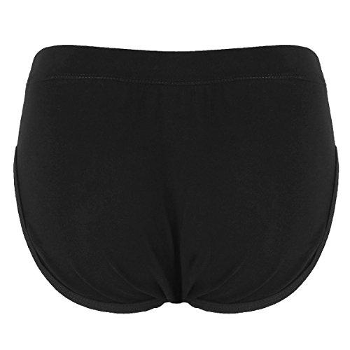 TiaoBug Men's Hiding Gaff Panty Shaper Pant Briefs Underwear for Crossdressing Transgender Black Medium