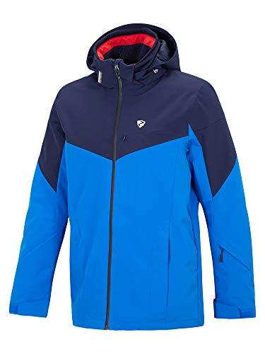 Ziener heren Toccoa Man jacket Ski Snowboard-jack/ademend, waterdicht, Black.New Red, 46