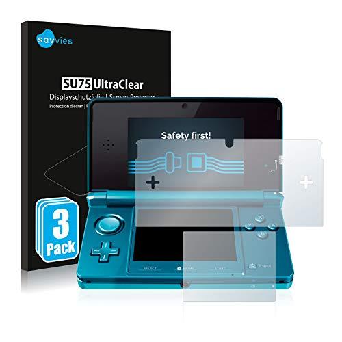 Savvies 6X Schutzfolie kompatibel mit Nintendo 3DS Displayschutz-Folie Ultra-transparent