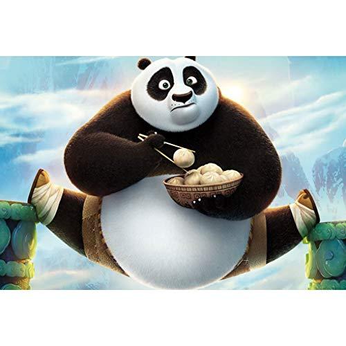 puzzles Película Kung Fu Panda 3 Madera 1000 Piezas Rompecabezas para Adultos Juguete Educativo De Descompresión para Niños(Color:UNA)