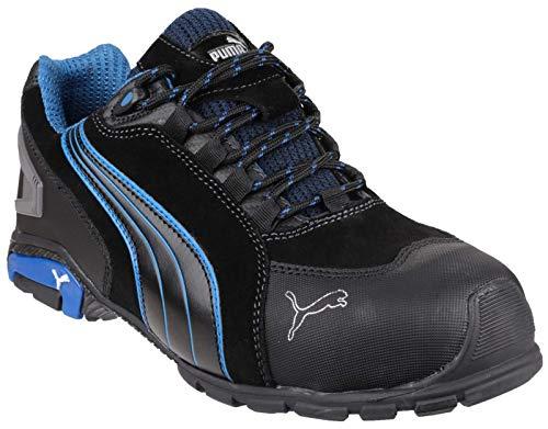 """Zapatos de seguridad""""Rio"""" Low S3SRC de Puma 642750–256–43, color negro y azul ⭐"""