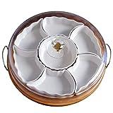 LQY Plato de cerámica de Frutas secas para el hogar, Bandeja de Aperitivos con...