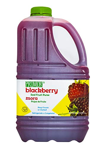 Primor Blackberry Puree | 64 Fl Oz | Create All-Natural Juices, Smoothies, Cocktails, Desserts, Dressings, And So Much More | Natural, Vegan, Non-GMO, Gluten-Free, Kosher