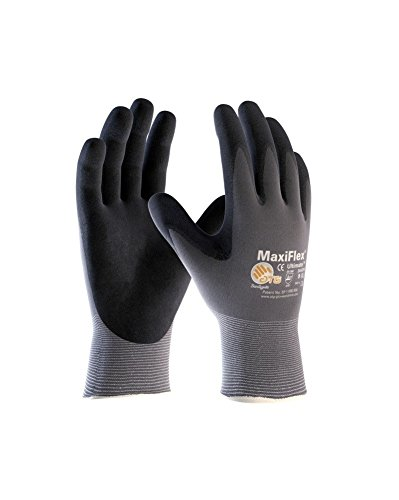 Maxiflex Ultimate 34-874Nylon Knitted Gloves-Various Sizes grey Size:8 by MaxiFlex