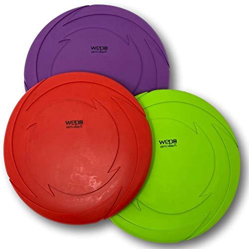 WEPO Hundespielzeug Set - 3 Stück - Hundefrisbee Schwimmend Ø 18cm - Dog-Frisbee - Wurfspielzeug Hunde (3 Stück)